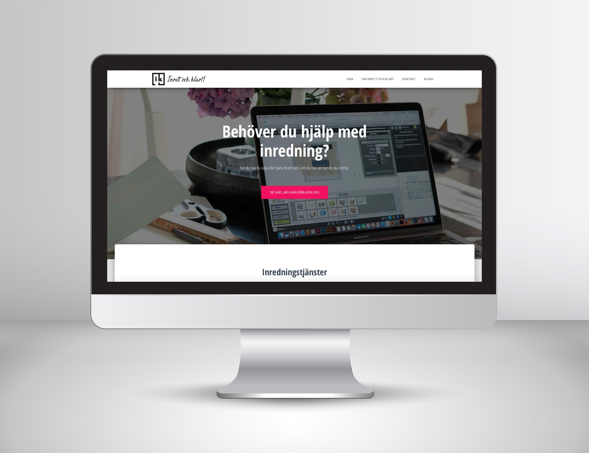 Ny hemsida för Inrett och klart